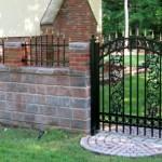 Ornamental Steel Gate with Decorative Design