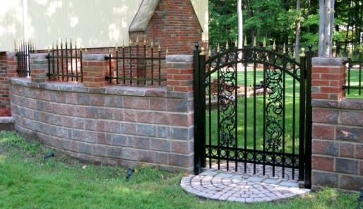 Essex fence company morris countys 1 fence company ornamental steel gate with decorative design workwithnaturefo
