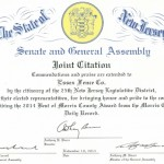 NJ enate and Assembly Commendation