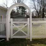 PVC Vinyl Arbor with Gate