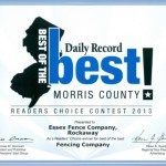 Voted Morris Countys Best Fence Company 2013
