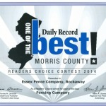 Voted morris Countys Best Fence Company 2014