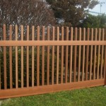 Wood Grain PVC Vinyl Picket Fence