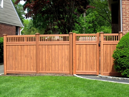 Vinyl Fencing Is Also Virtually Maintenance Free And Will Last For Years To Come With Minimal Signs Of Wear New Designs Are Available In A Cedar Wood Grain